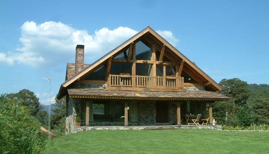 Casa estilo Rústico – Tronco Piedra Casa en Prado Acero  Constructora de casas Valle Andino Casa en Prado Acero